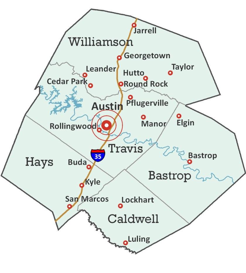 Map of Austin Metro