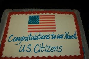 Naturalization Cake